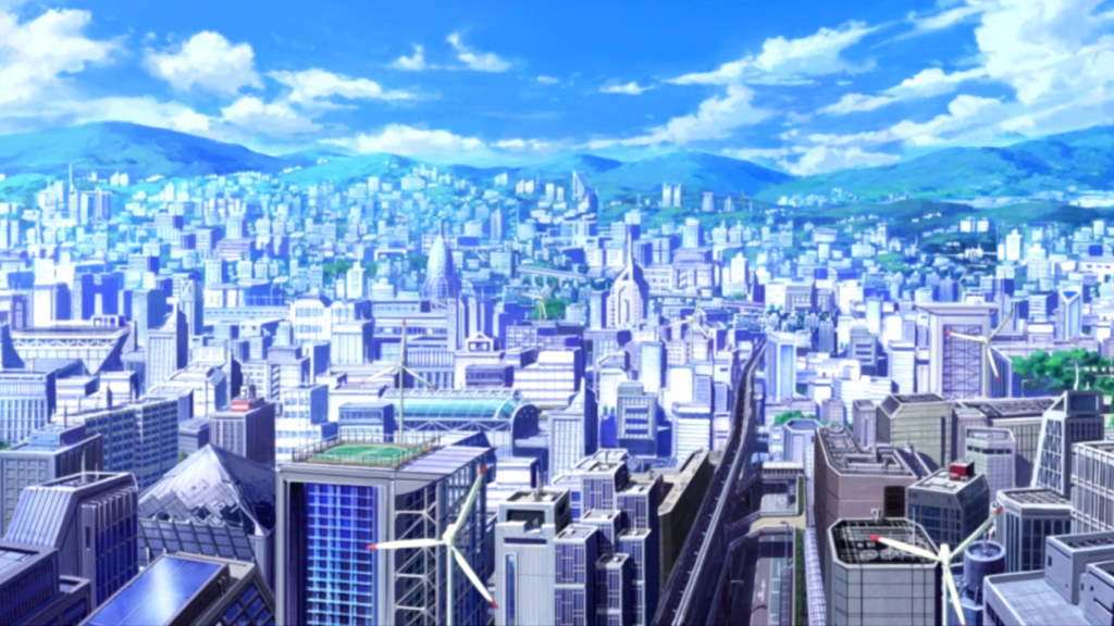 Toaru Majutsu no Index (2008) - Academy City top view